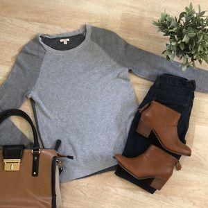 Sonoma gray waffle knit sweater